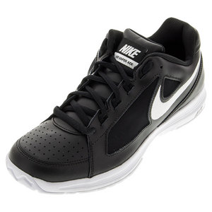 Juniors` Air Vapor Ace Tennis Shoes Black and White