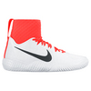 Women`s Flare Tennis Shoes White and Total Crimson by NIKE