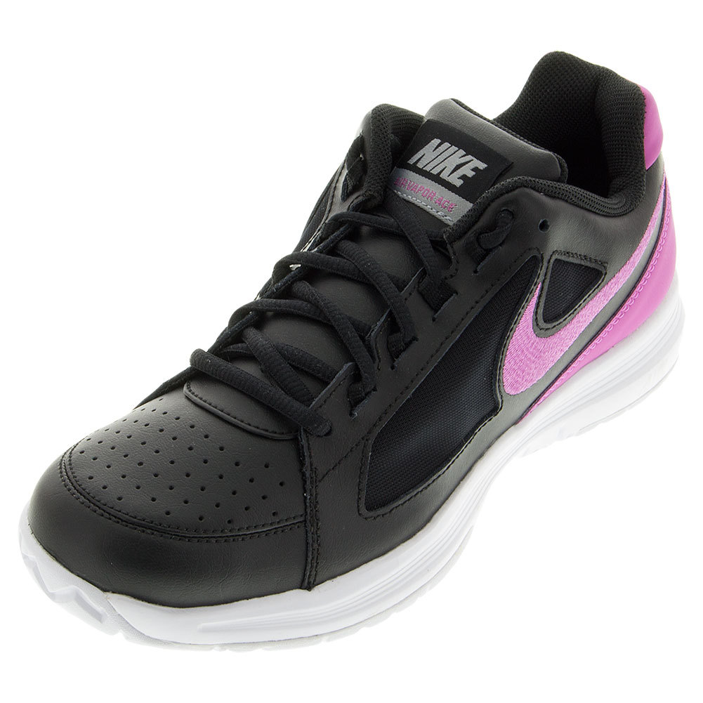 Women's Air Vapor Ace Tennis Shoes Black And Viola