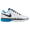 NIKE Men`s Zoom Vapor 9.5 Tour Tennis Shoes White and Heritage Cyan