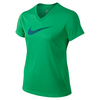NIKE Girls` Zen Swoosh V-Neck Top