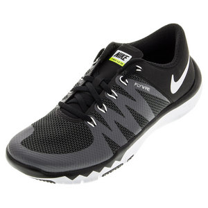 Men`s Free Trainer 5.0 Shoes Black and Dark Gray
