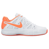 NIKE Women`s Air Vapor Advantage Clay Tennis Shoes White and Atomic Pink