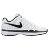 NIKE Juniors` Air Vapor Advantage Leather Tennis Shoes White and Dark Gray
