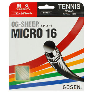 GOSEN OG-SHEEP MICRO TENNIS STRINGS 16G/1.29MM