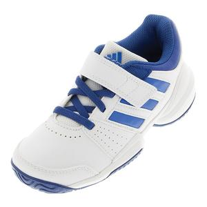 Juniors` Court EL Tennis Shoes White and Blue