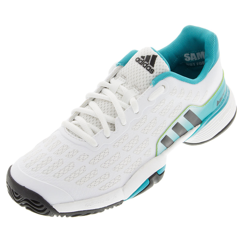 juniors barricade 2016 tennis shoes white and shock green