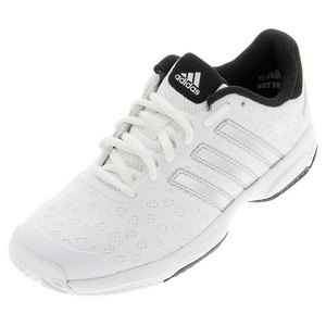 adidas JUNIORS BARR CLUB TNS SHOES WH/MT SILV