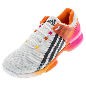 Men`s Adizero Übersonic Tennis Shoes White and Shock Pink
