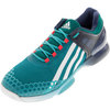 ADIDAS Men`s Adizero Übersonic Tennis Shoes Shock Green and Mineral Blue