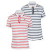 LACOSTE Women`s Short Sleeve Technical Striped Tennis Polo