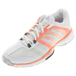 Women`s Barricade Club Tennis Shoes White and Matte Silver