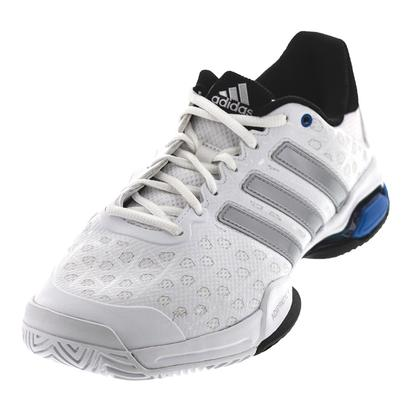 adidas MENS BARR CLUB TNS SHOES WH/MAT SILV