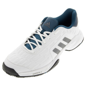 Men`s Barricade Court 2 Wide Tennis Shoes White and Black