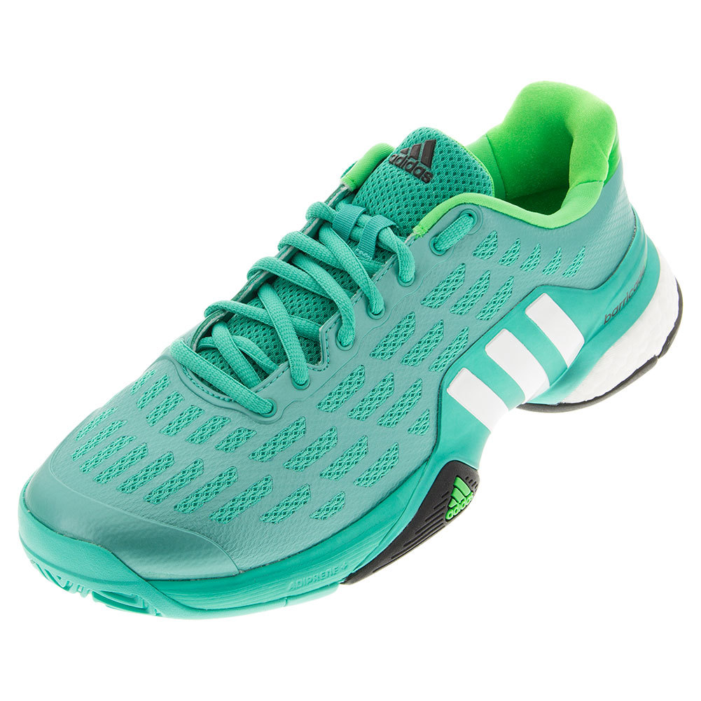 Men's Barricade 2016 Boost Tennis Shoes Shock Mint And White