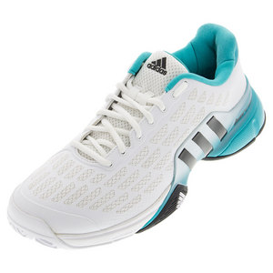 Men`s Barricade 2016 Tennis Shoes White and Shock Green