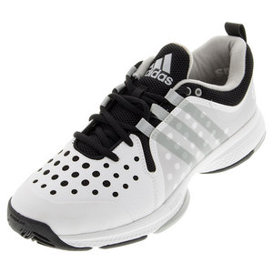 Men`s Barricade Classic Bounce Wide Tennis Shoes White and Black