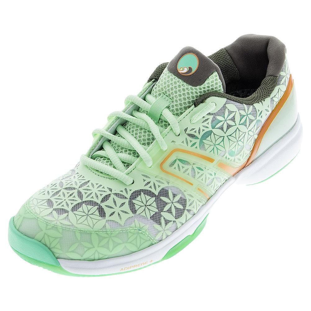 Women's Adizero Übersonic Aphrodite Tennis Shoes Gray And Semi Solar Slime