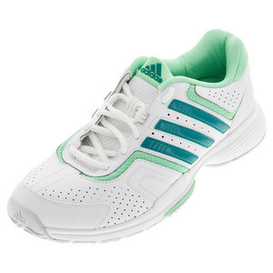 Women`s Barricade Court 2 Tennis Shoes White and EQT Green