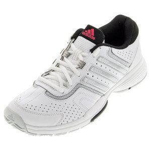 adidas WOMENS BARR CRT 2 TNS SHOES WH/MT SILV