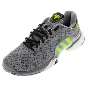 Men`s Barricade 2016 Hannibal Tennis Shoes Gray and Semi Solar Slime