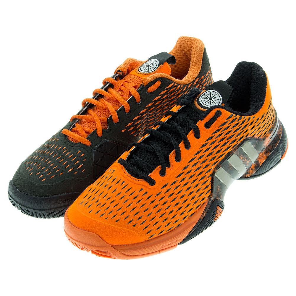 Men's Barricade 2016 Alexander Tennis Shoes Orange And Cyber Metallic