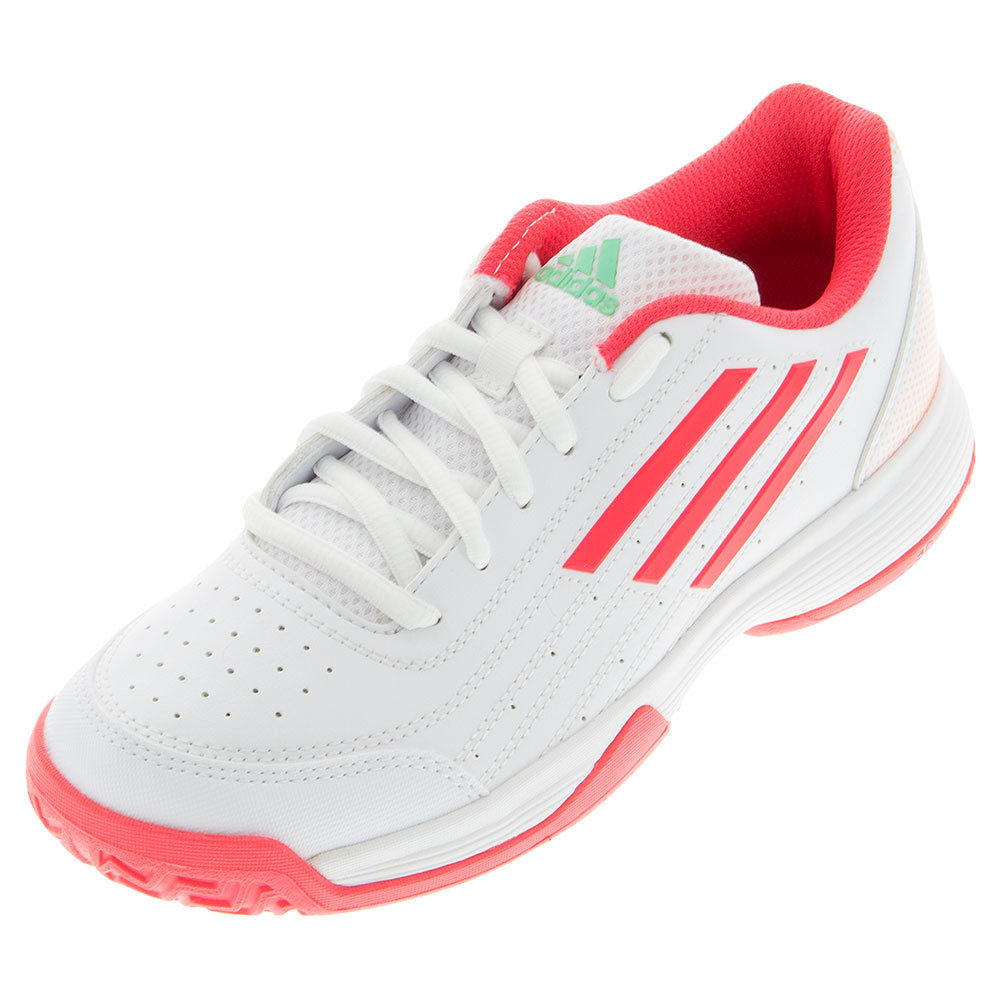 Juniors'sonic Attack K Tennis Shoes White And Shock Red
