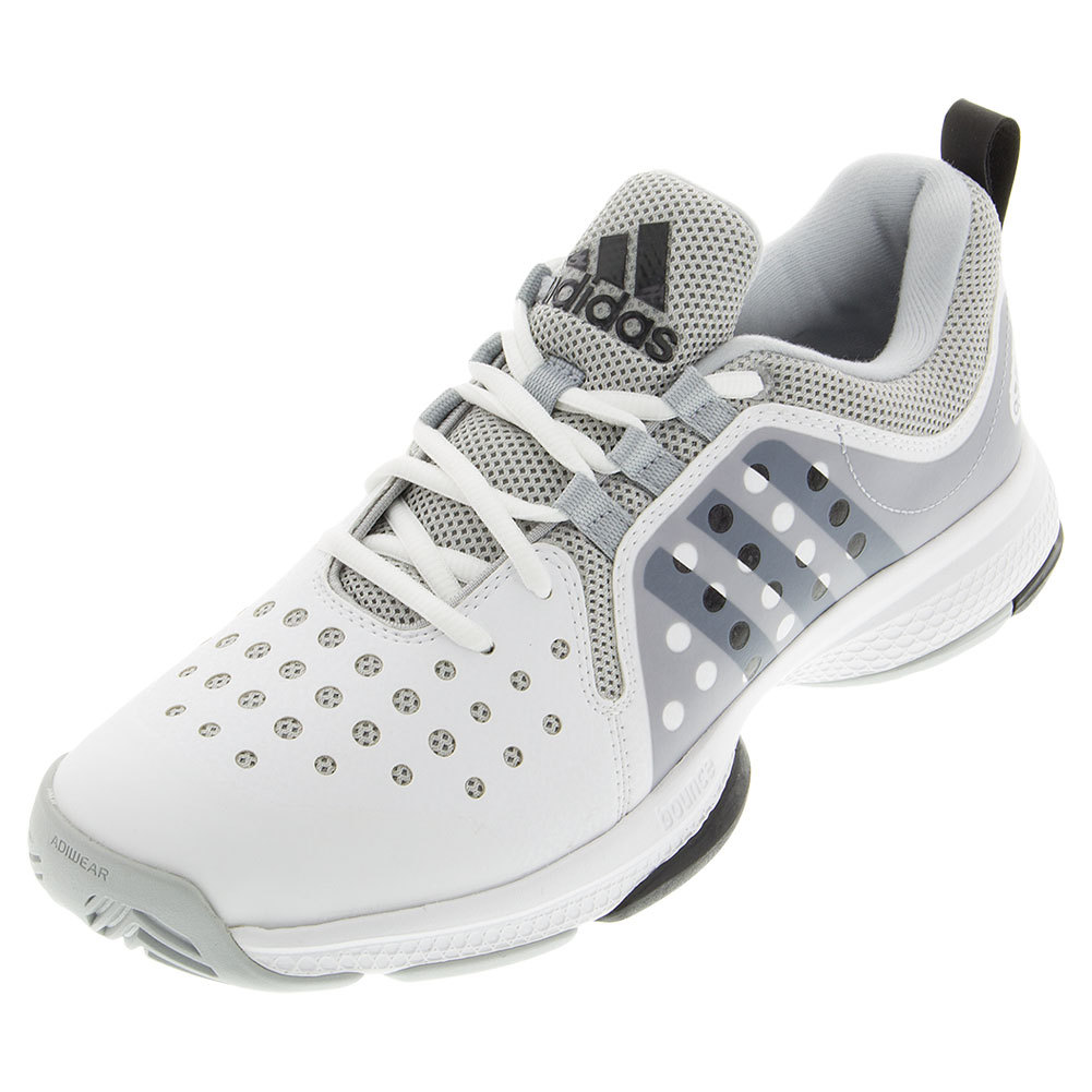 Men's Barricade Classic Bounce Tennis Shoes White And Gray Heather