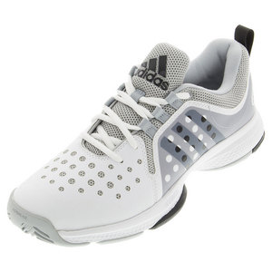 Men`s Barricade Classic Bounce Tennis Shoes White and Gray Heather