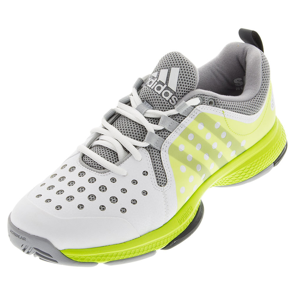adidas s barricade classic bounce tennis shoes white