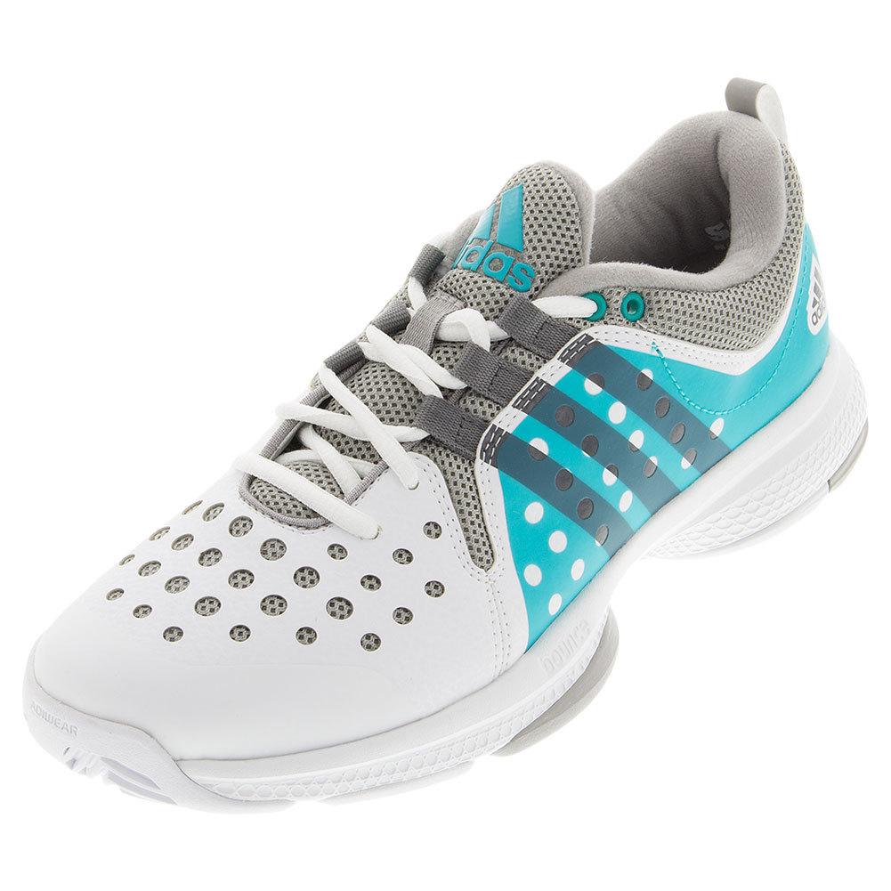 Women's Barricade Classic Bounce Tennis Shoes White And Shock Green
