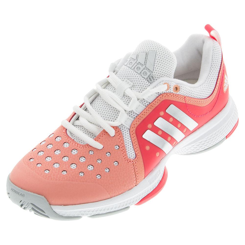 Women's Barricade Classic Bounce Tennis Shoes Sun Glow And Shock Red