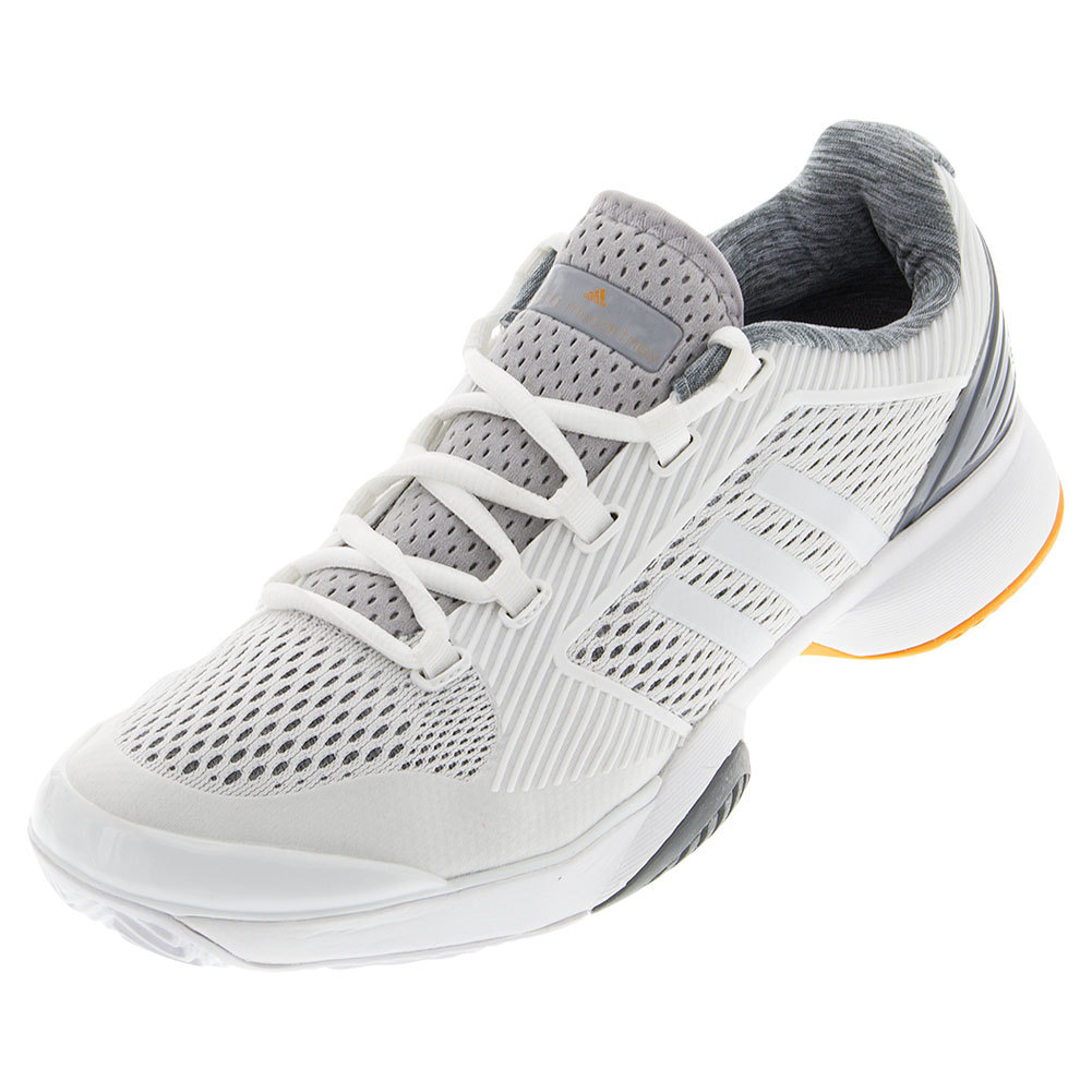 Women's Asmc Barricade Tennis Shoes White And Bright Gold