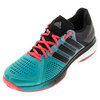 ADIDAS Men`s Tennis Energy Boost Shoes Shock Green and Black