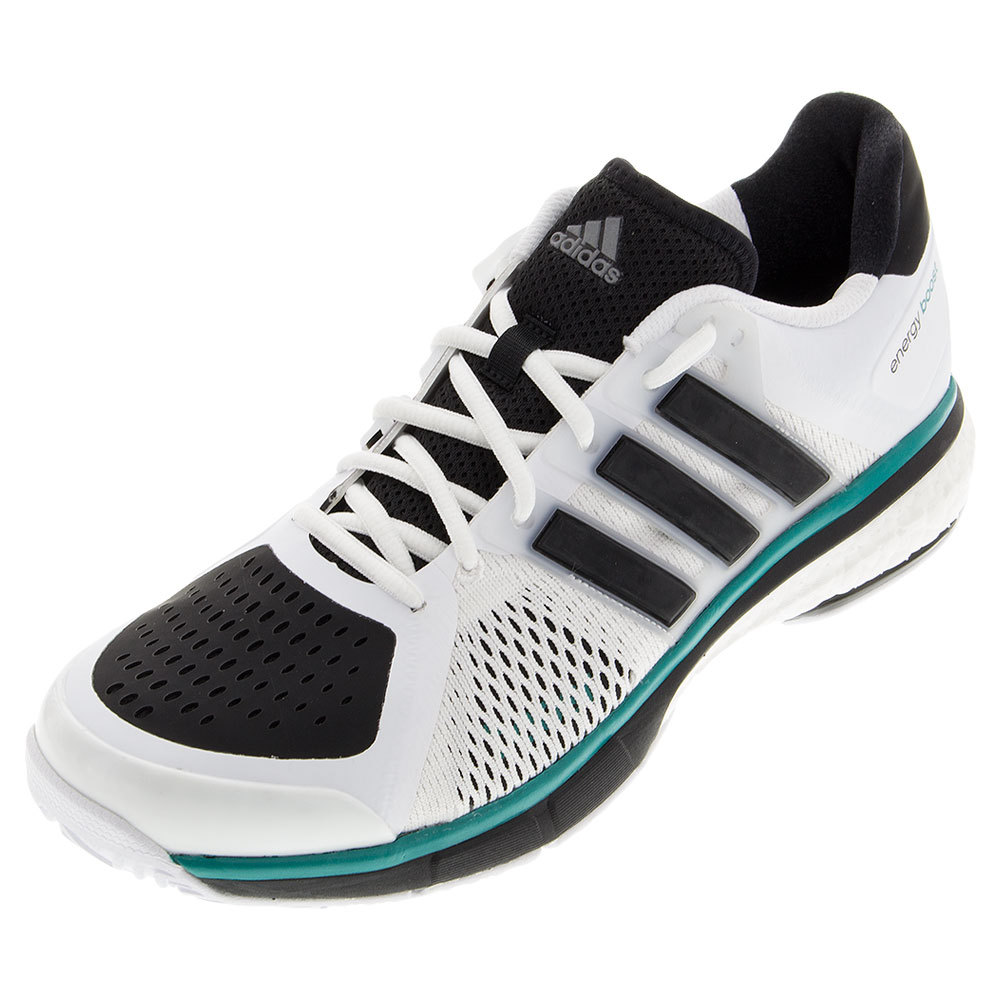 s tennis energy boost shoes white and black