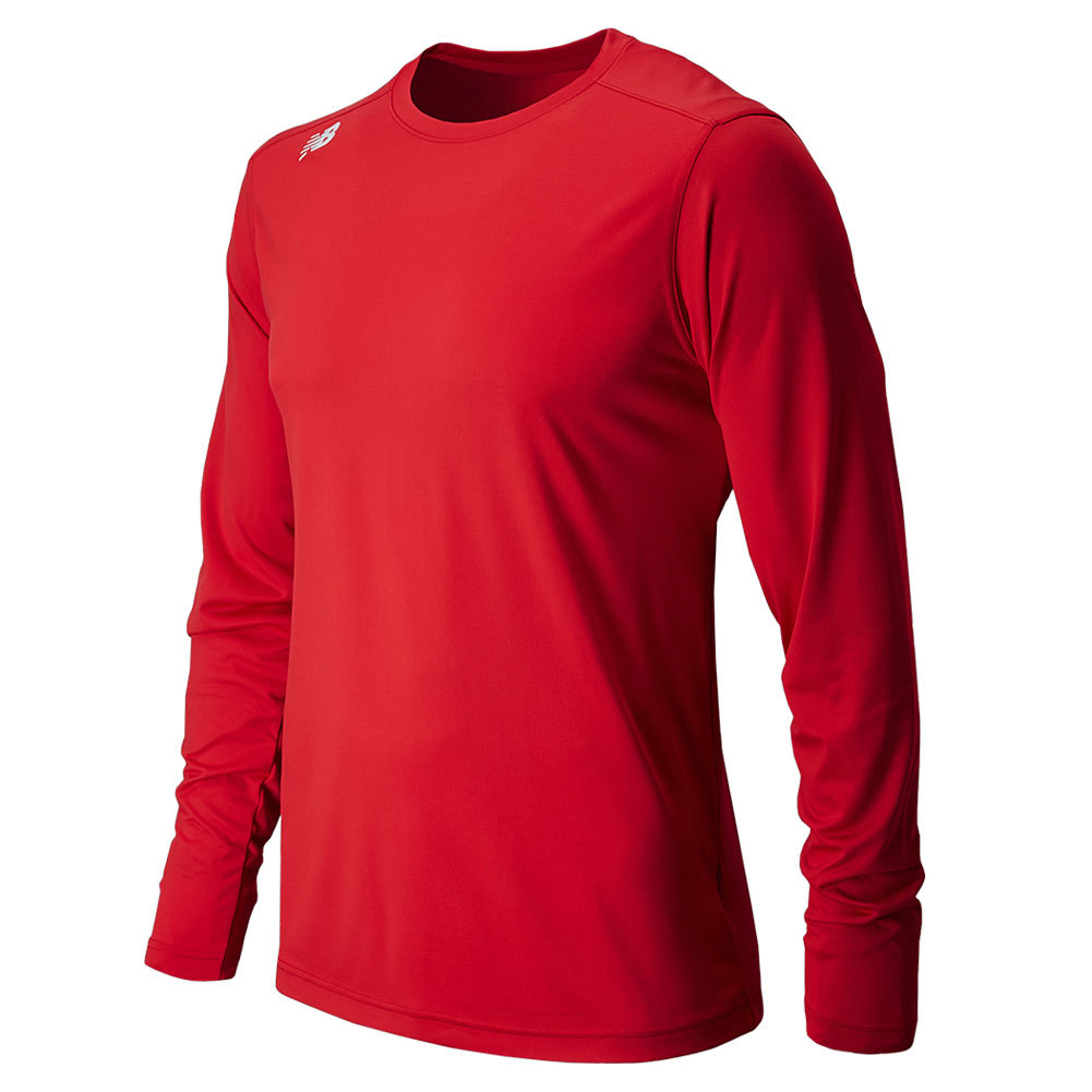 Men's Long Sleeve Tech Tee Red