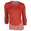 ADIDAS Women`s Stella McCartney 3/4 Sleeve Tennis Tee Lipstick and Coral Pink