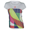 ADIDAS Women`s Adizero Tennis Tee White and Shock Red