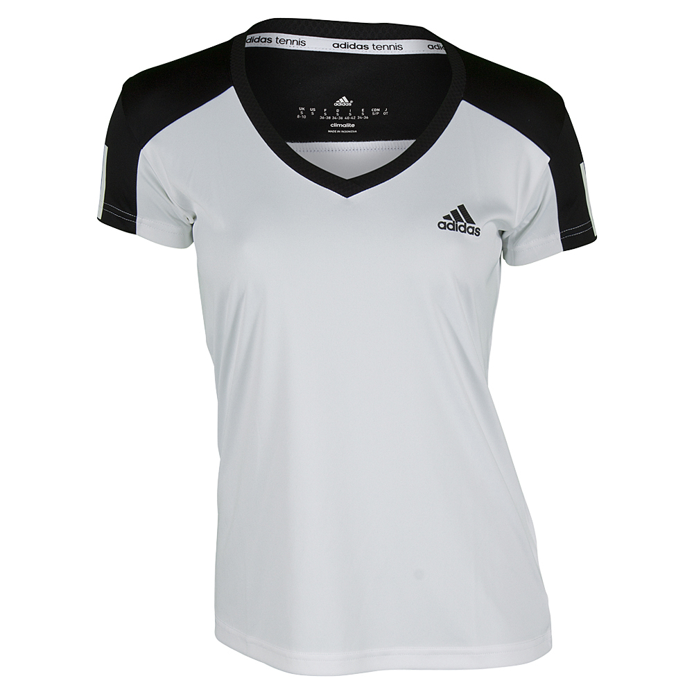 Women's Club Tennis Tee White And Black