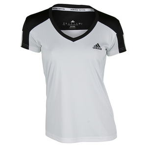 Women`s Club Tennis Tee White and Black