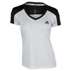 ADIDAS Women`s Club Tennis Tee White and Black