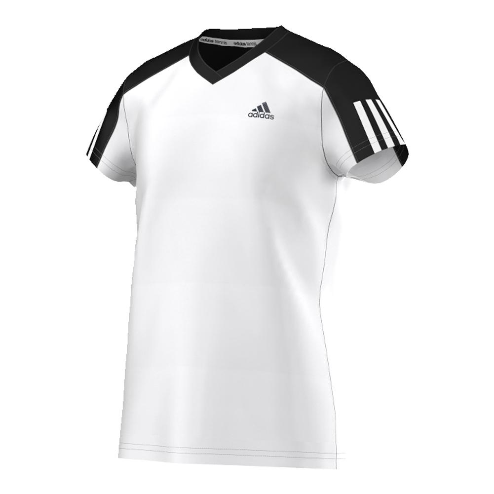 Girls ` Club Tennis Tee White And Black