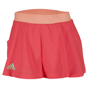 Women`s Club Tennis Skort Shock Red and Sun Glow
