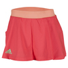 ADIDAS Girls` Club Tennis Skort Shock Red and Sun Glow