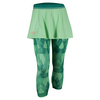 ADIDAS Women`s Club Trend Tennis Skort Leggings Green Glow and Shock Green