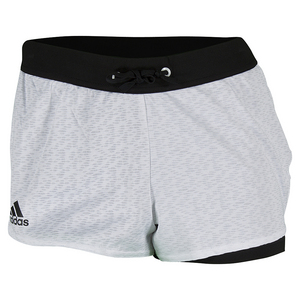 adidas WOMENS TENNIS CORE SHORT WHITE/BLACK