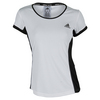 ADIDAS Women`s Court Tennis Tee White and Black
