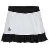 Women`s Court 12 Inch Tennis Skort White and Black by ADIDAS