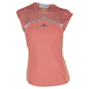 ADIDAS Women`s Stella McCartney Australia Tennis Tee Coral Pink and Semi Flash Orange