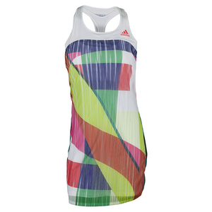 Women`s Adizero Tennis Dress White and Shock Red